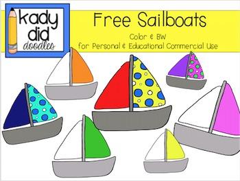 FREE Sailboat Clipart