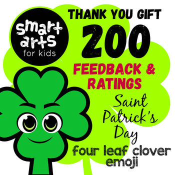 FREE 200th Feedback and Ratings Saint Patrick's Day Clip Art