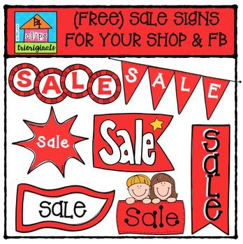 FREE Sale Signs  {P4 Clips Trioriginals Digital Clipart}
