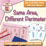 FREE Same Area Different Perimeter Rectangles: 40 Math Car