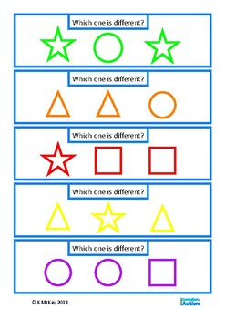 FREE Same Different Autism Independent Work Task