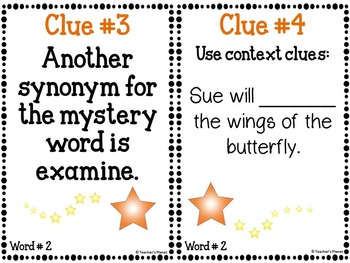 FREE Sample Academic Mystery Words Set 1
