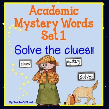 FREE Sample Academic Mystery Words Set 1