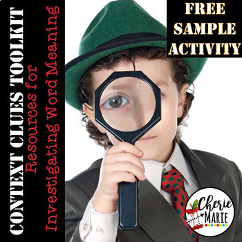 FREE SAMPLER from Context Clues Toolkit 3rd & 4th Grade Common Core RL3.4 RL4.4
