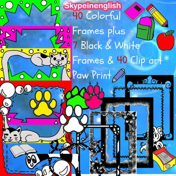 Clip Arts and Frames [ Bundle Deal ] Over 50 files