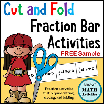 FREE Sample Cut and Fold Fraction Bar Activities