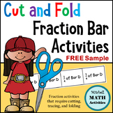 FREE Sample Cut and Fold Fraction Bar Activity - Level 1