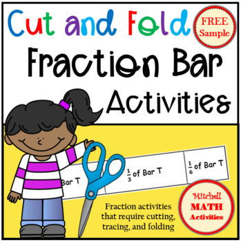 FREE Sample Cut and Fold Fraction Bar Activity - Level 3