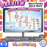 FREE Sample Digital Word Families Word Work with Google -