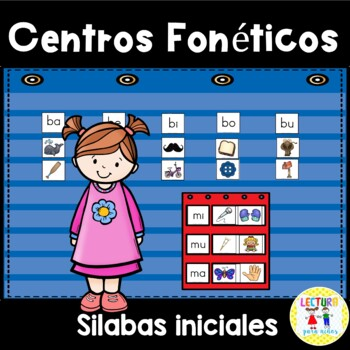 FREE SAMPLE: Centros foneticos 002: Initial Sound/Syllable Picture Sort A-Z
