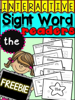 FREE - Sample Interactive Sight Word Reader {the}
