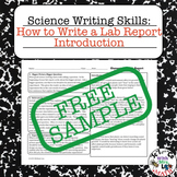 FREE Sample - Lab Report Writing How to Write an Introduction