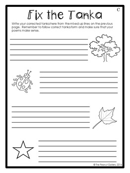 "FREE ""Less Mess"" Tanka Poetry Interactive Notebook Activities"