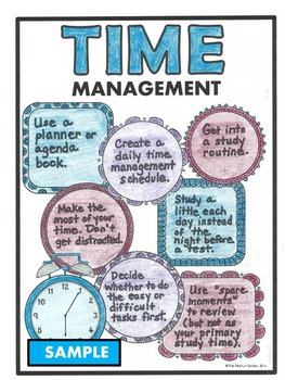 "FREE Sample- ""Less Mess"" Study Skills Interactive Notebook Activities"