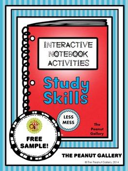 "FREE Sample- ""Less Mess"" Study Skills Interactive Notebook"