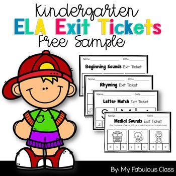 FREE Sample Literacy Exit Tickets