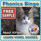 FREE Sample Phonics Bingo About Kittens: Learn Vowel Sounds