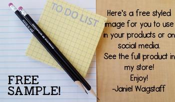 FREE Sample:  Styled Image Stock Photo for Teacherpreneurs (Per & Com Use)
