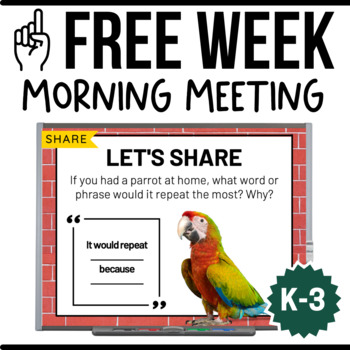 FREE Sample: Whiteboard Morning Meeting {1 Week}