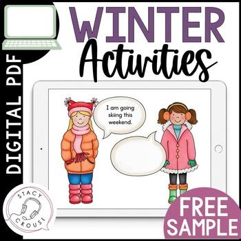 FREE Sample Winter Speech and Language Activities No Print Interactive PDF