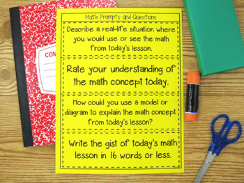 Math Journal Writing and Exit Tickets FREEBIE