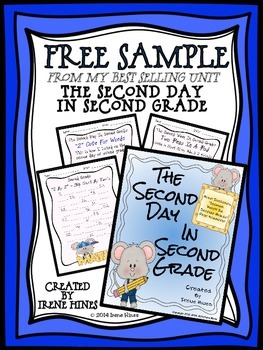 FREE Sample from Second Day In Second Grade~ Back To School Packet For 2nd Grade