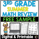FREE Sample from: Summer Review Math-Grade 3