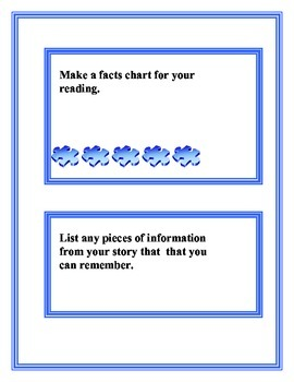 Bloom's Taxonomy Task Cards Knowledge/ Remembering Level FREE