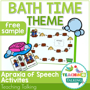 FREE Sample of Interactive Apraxia Activities (Bath Time)