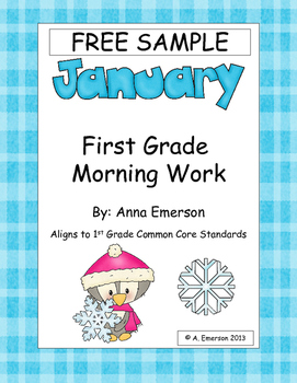 FREE Sample of January Morning Work for First Grade Common Core Standards
