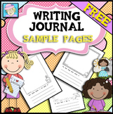 Writing Journals for Kindergarten or First Grade FREE