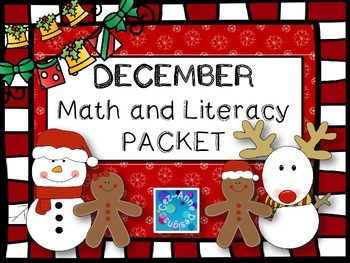 FREE!!!  Sample of No Prep!!! December Math and Literacy Packet