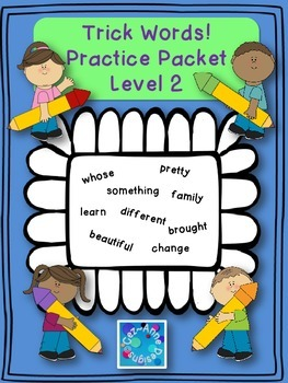 FREE!!!  Sample of No Prep!!! Trick Word Practice Packet ~ Level Two