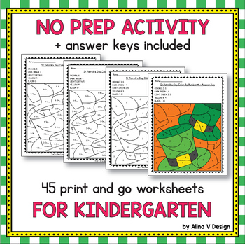 FREE St Patrick's Day Activities For Kindergarten (Math No Prep)