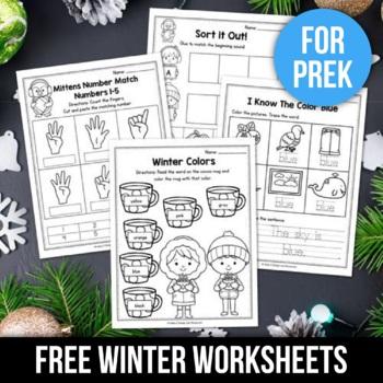 Free Sample Of Winter Activities For Kindergarten Math No Prep