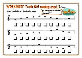 FREE Sample of the 130 Music Worksheet Halloween Pack