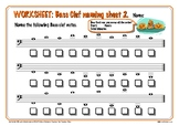 FREE Sample of the 130 Music Worksheet Halloween Pack