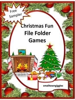 FREE Sampler: Christmas File Folder Games, P-K,K, Math Skills, Special Education