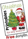 Christmas Word Work Printables
