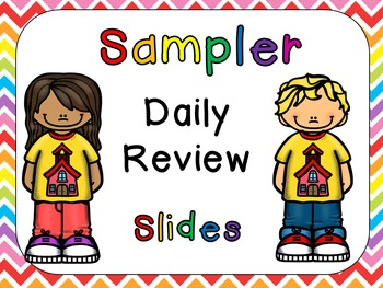 FREE Sampler Daily Review PowerPoints for Kindergarten~Great for Calendar Time!