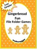 FREE Sampler: Gingerbread File Folder Game, Math Pre-K, K, Special Education