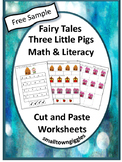 FREE The Three Little Pigs Fairy Tales Unit Cut and Paste Worksheets