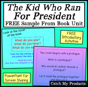 FREE Sampler of The Kid Who Ran for President Power Point