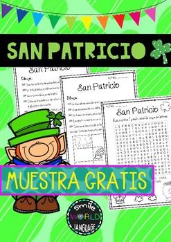 FREE San Patricio en Español Young Learners St Patrick Spanish
