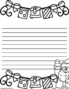 FREE Santa Letter Writing Paper for Christmas