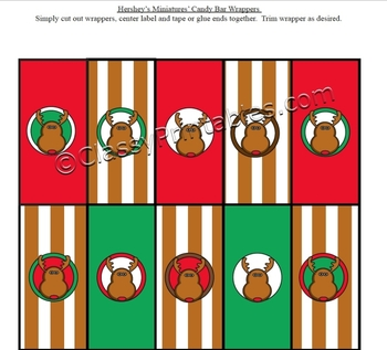 FREE Santa Rudolph Christmas Hershey's mini chocolate wrappers