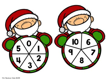 FREE Santa Spinner Addition and Subtraction