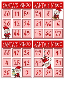 FREE Santa's Bingo - Christmas - Color version