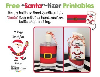 FREE Santa-tizer Gift Printable - Make A Fun Christmas Gift!