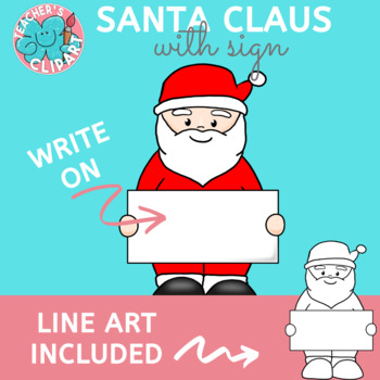 FREE Santa with sign clip art